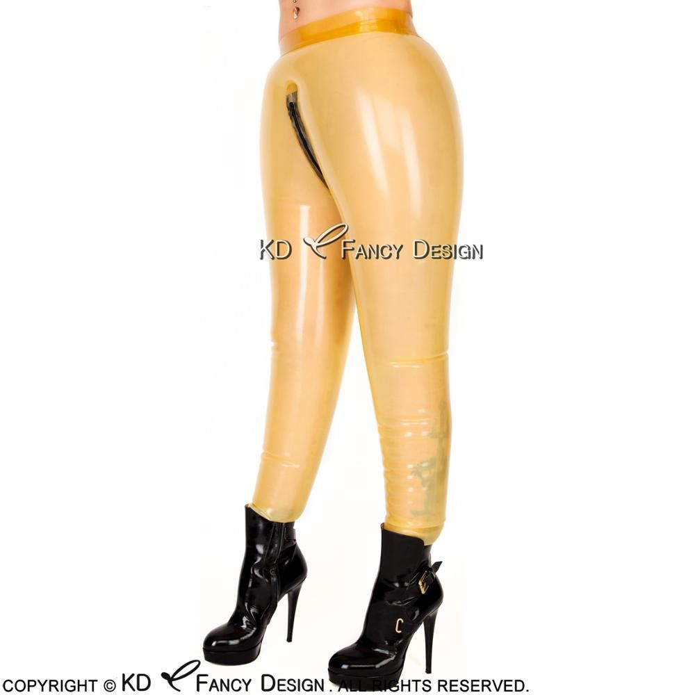 Transparent Inflatable Sexy Latex Legging With Zipper Rubber Pants Trousers CK-0037