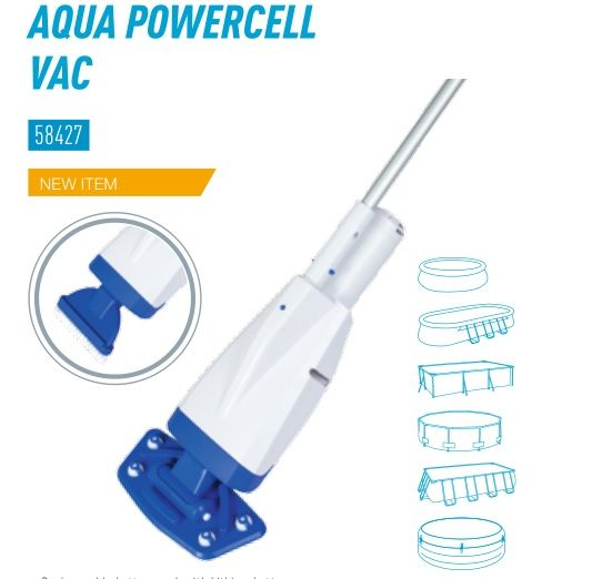 58427 Bestwat Aqua Powercell Vac Cleaner for spas and AG P Totally submersible body vacuum debris on pool/spa floor Clean Water
