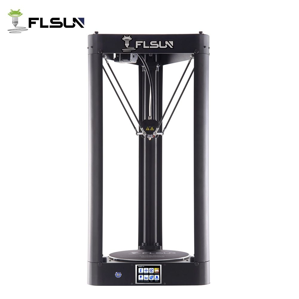 Flsun-QQ 3d Printer Metal Frame Large Size Pre-assembly Auto-level flsun 3d Printer Hot Bed Touch Screen Wifi SD Card Filament