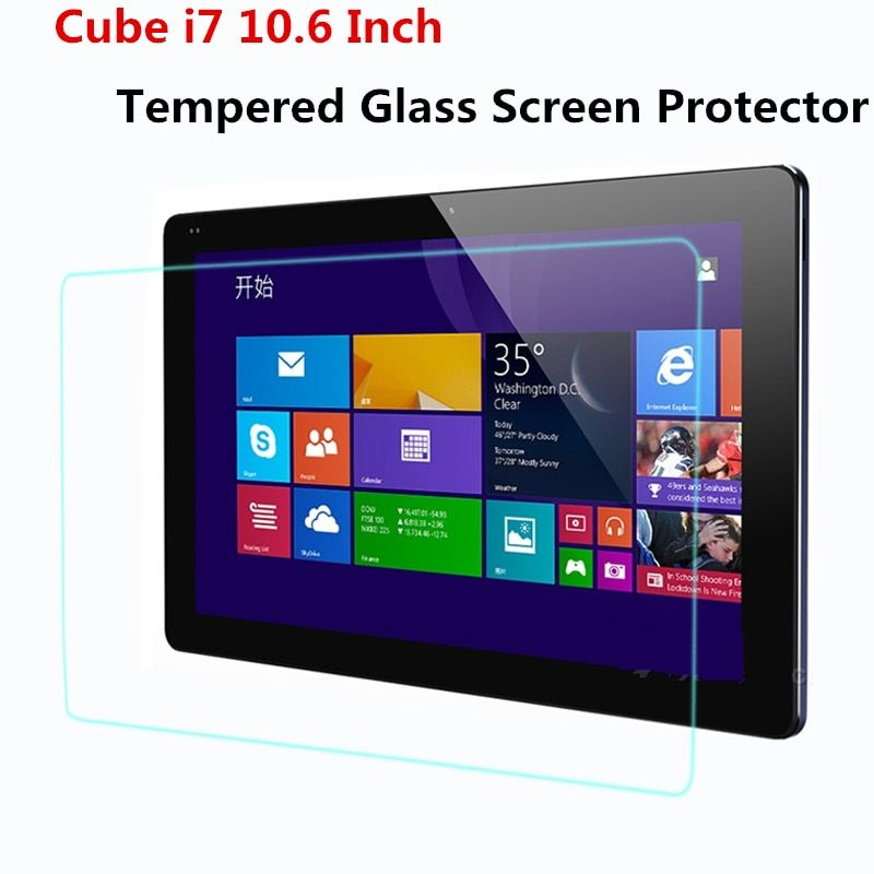 Pour Cube i7 10.6 pouces protecteurs d'écran en verre pour Cube i7 stylet 10.6 ''protection d'écran en verre trempé