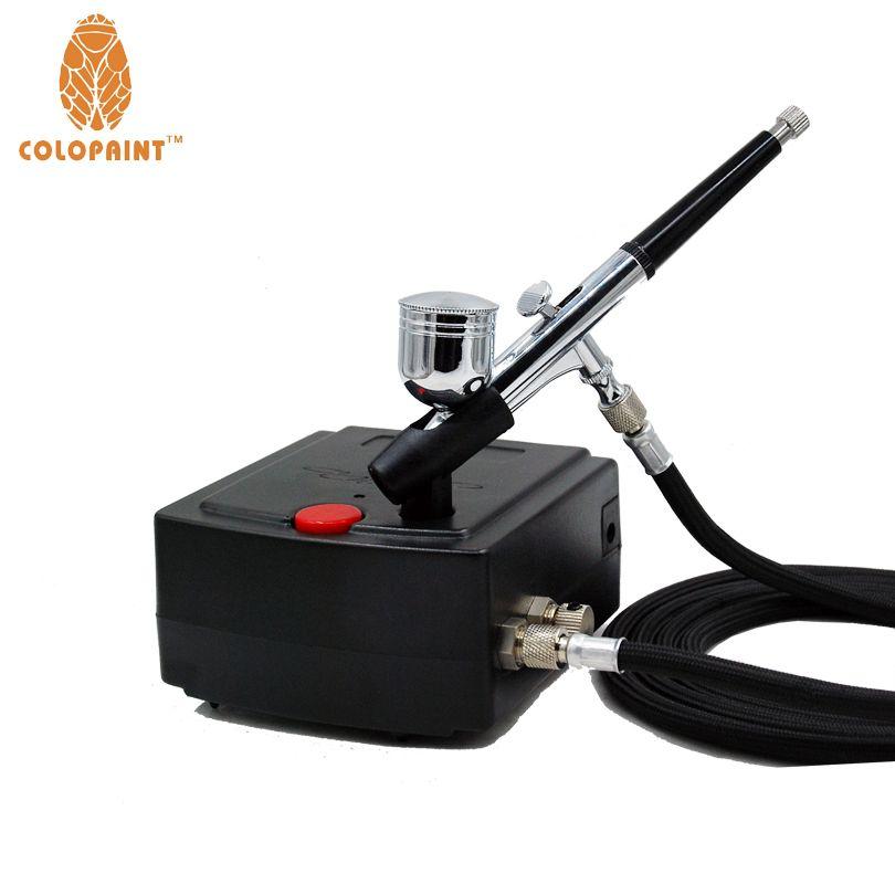 0.3mm Nozzle 7CC Makeup Airbrush System Kit For Nail Art Makeup Body Paint 100-240V