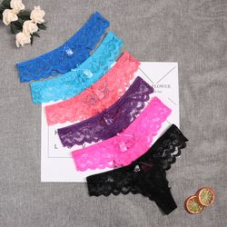 8color Gift full beautiful lace Women's Sexy lingerie Thongs G-string Underwear Panties Briefs Ladies T-back 1pcs Dropshipping
