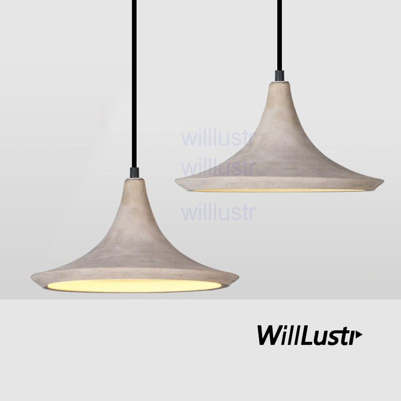 willlustr concrete pendant light natural cement suspension lamp design nordic hanging lighting dinning room restaurant hotel