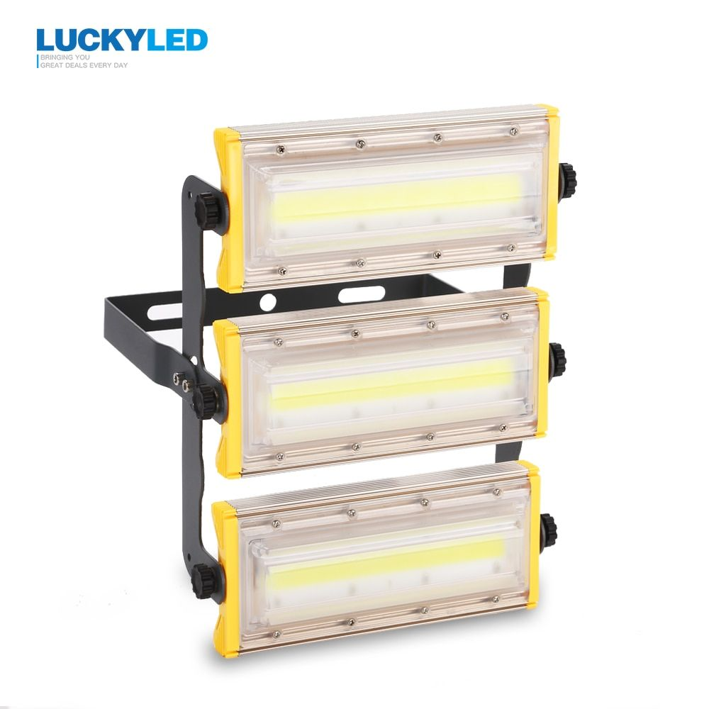 LUCKYLED LED flood light 50W 100W 150W floodlight Waterproof IP65 AC85-265V outdoor <font><b>spotlight</b></font> garden Lamp lighting