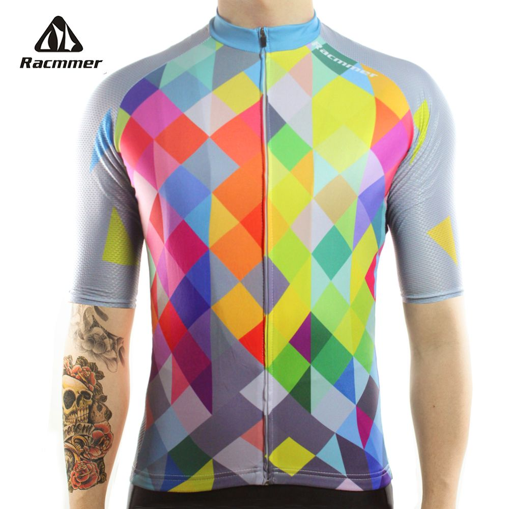 Racmmer 2018 Cycling Jersey Mtb Bicycle Clothing Bike Wear Clothes Short Maillot Roupa Ropa De Ciclismo <font><b>Hombre</b></font> Verano #DX-40