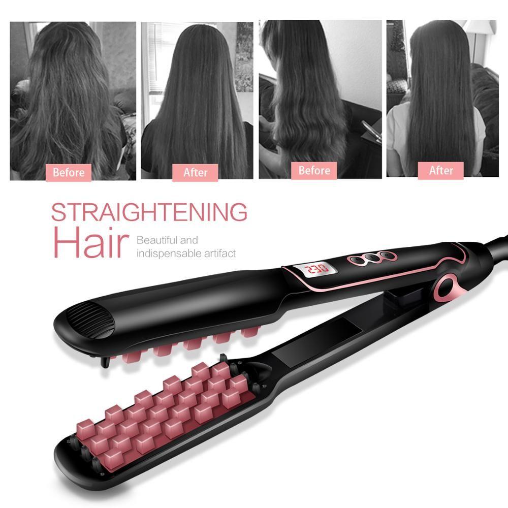 New hot selling Multi-functional long & short Hair styling Iron hair straightener ceramic tourmaline Volumizing Hair Iron