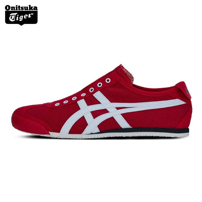 Onitsuka Tiger MEXICO 66 Outdoor Men's Shoes Slip-on Unisex Shoes Breathable Lightweight Women Sneakers D3K0N