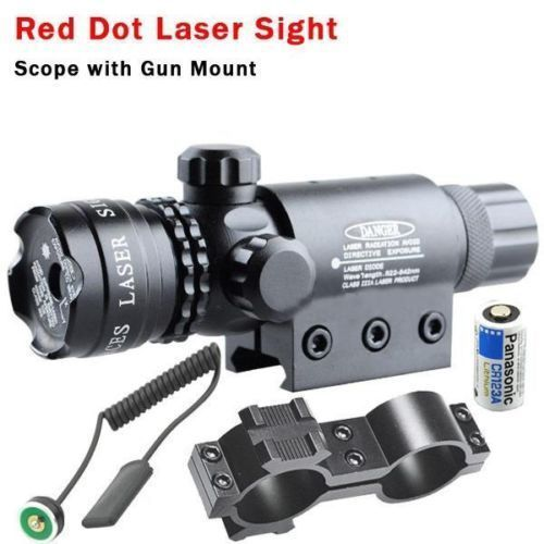 Red Dot Laser Sight Scope Tactical Romote Rifle Scope Sight Pressure Switch Rail Mount Light Gun Rifle Hunting Scope Torch lamp