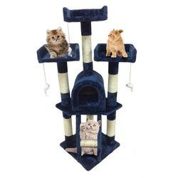 115 cm de Chat Arbre Tour Activité Post Centre Jouets Pet De Protection Centre D'activité du Jouet Escalade Saut Cadre Maison Meubles