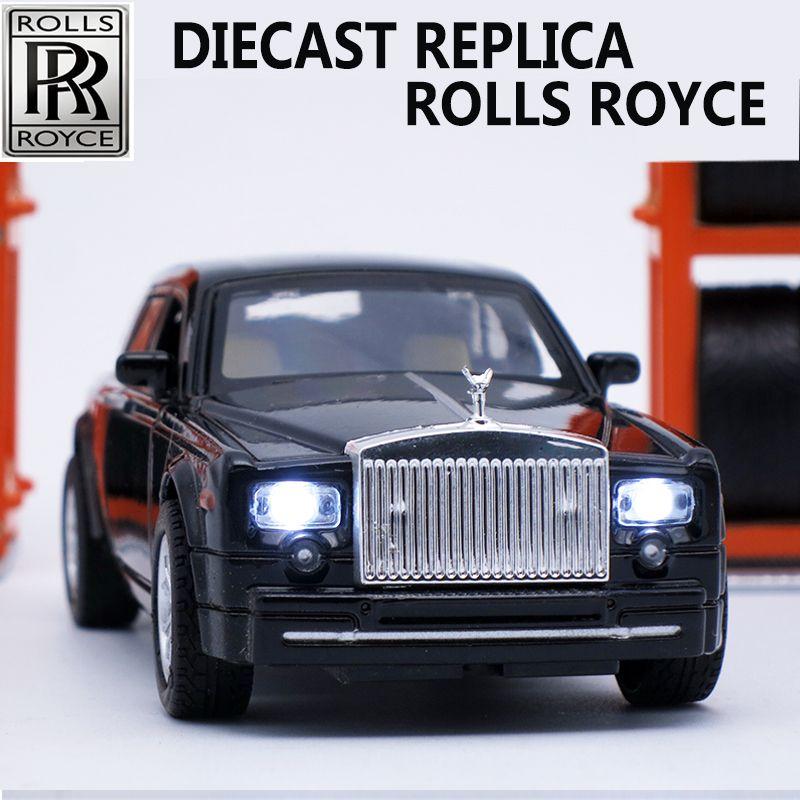 Moulé Sous Pression à collectionner Rolls Royce Échelle Modèles, alliage De Voiture, marque En Métal Jouets Pour Enfants Avec Son/Lumière/Pull Back Fonction