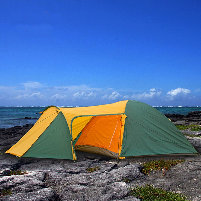 Hiking Tents for outdoor recreation Luxury camping tent 3 4 person rainproof waterproof tent Tourist beach tents Double layer
