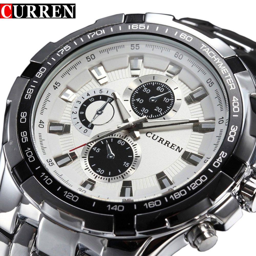 2018 Top marque de luxe en acier montre hommes décontracté quartz montres montre-bracelet militaire étanche Relogio vente nouveau