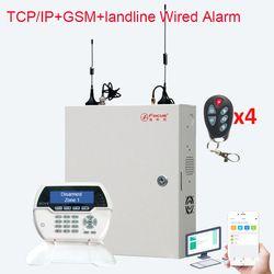 Fokus FC-7688 Berkabel & Nirkabel TCP IP Jaringan Keamanan Rumah Sistem Alarm 8 + 88 Kabel Zona Fire Alarm