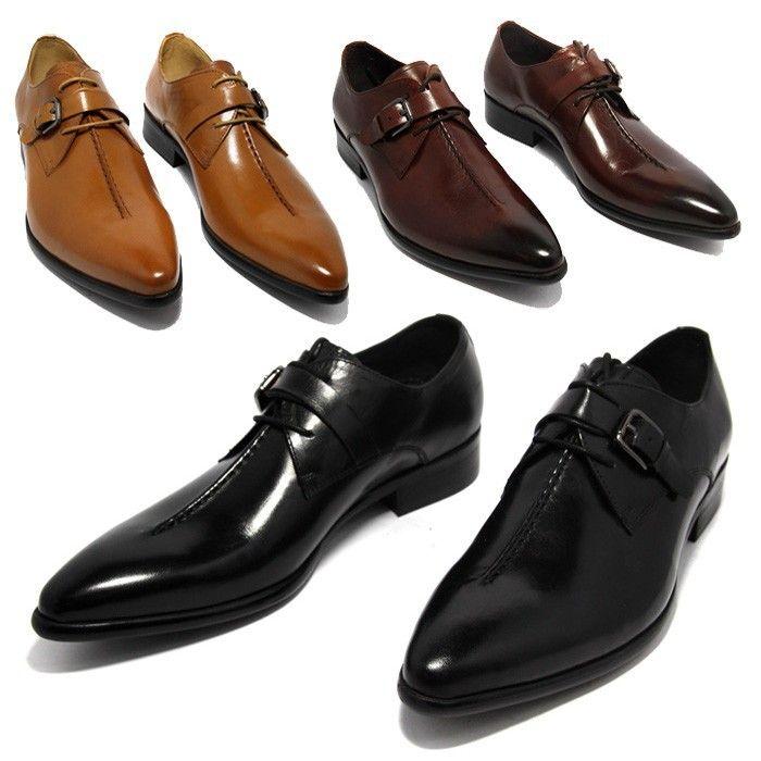 Café profonde couleur/jaune Foncé/noir mens robe d'affaires chaussures en cuir véritable bout pointu hommes chaussures de mariage