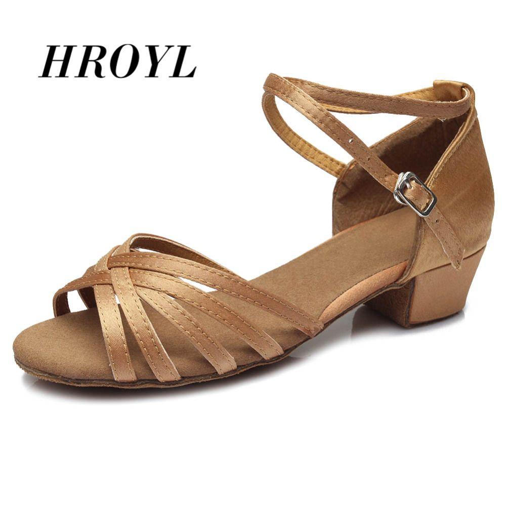 Haute qualité nouveauté en gros filles enfants/enfant/enfants salle de bal tango salsa chaussures de danse latine chaussures à talons bas 20 couleurs