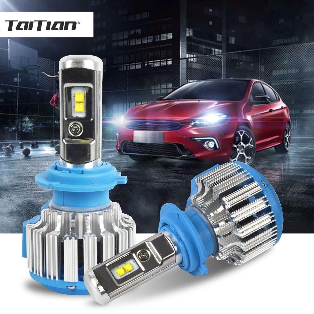 Taitian 2Pcs 70W 12V CSP 9600LM 6500K H1 H7 led 2017 LED Lamp H11 Auto H4 Headlight plug 9005 HB3 9006 HB4 Fog light Bulb