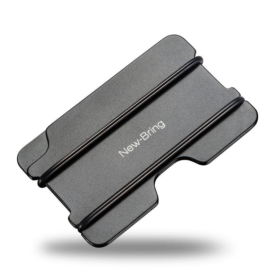 Newbring модная металлическая ID держатель кредитной карты черный карманный Box Визитные карточки бумажник с RFID Анти-главный кошелек Для мужчин