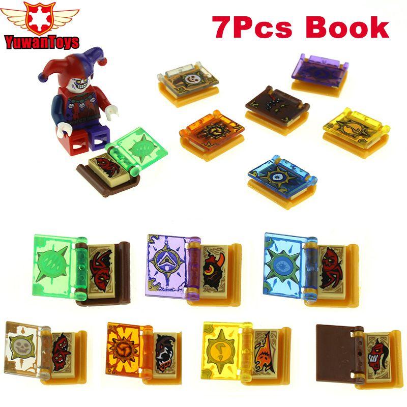 16 Pcs/lot Chaude Nexus Chevaliers Jestro Livres Magiques Jouets Blocs de Construction Mini Briques Jouets Figurines Pour Enfants Cadeaux Argile Jestro Macy