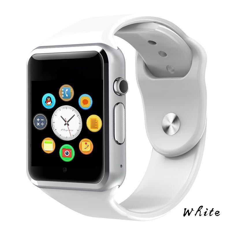 A1 montre-bracelet Bluetooth montre intelligente podomètre sport avec caméra SIM Smartwatch pour téléphone Android PK GT08 DZ09 Q18 Y1 V8