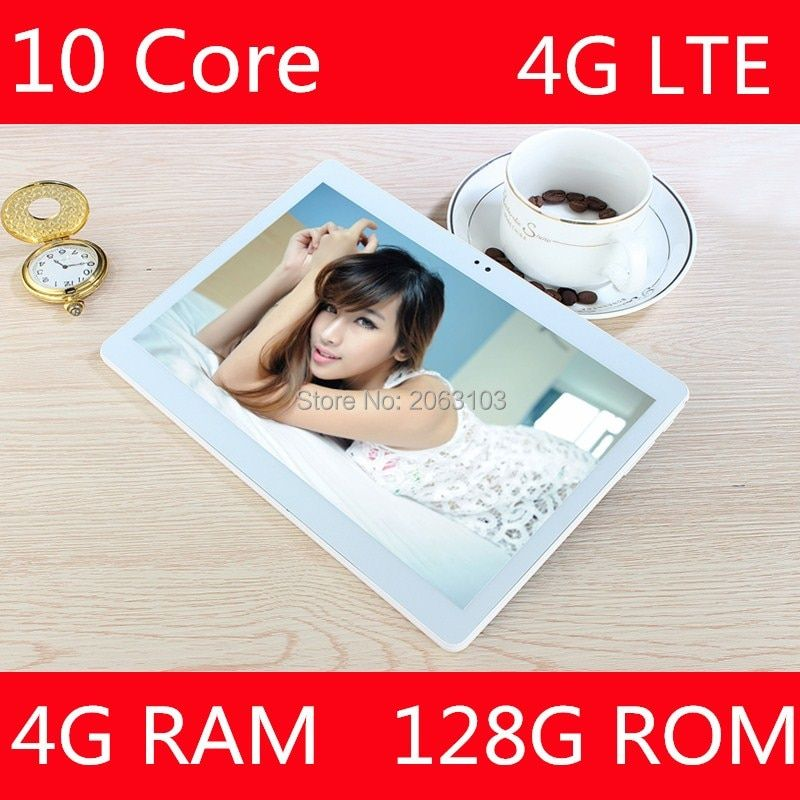2017 Newest Google Android 7.0 OS 10 inch tablet 4G FDD LTE Deca Core 4GB RAM 128GB ROM 1920*1200 IPS Kids Gift Tablets 10 10.1