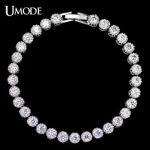 UMODE Women's Tennis Bracelet with 31pcs 0.25 carat Top Quality AAA+ Cubic Zircon New Fashion Bracelets & Bangles UB0030