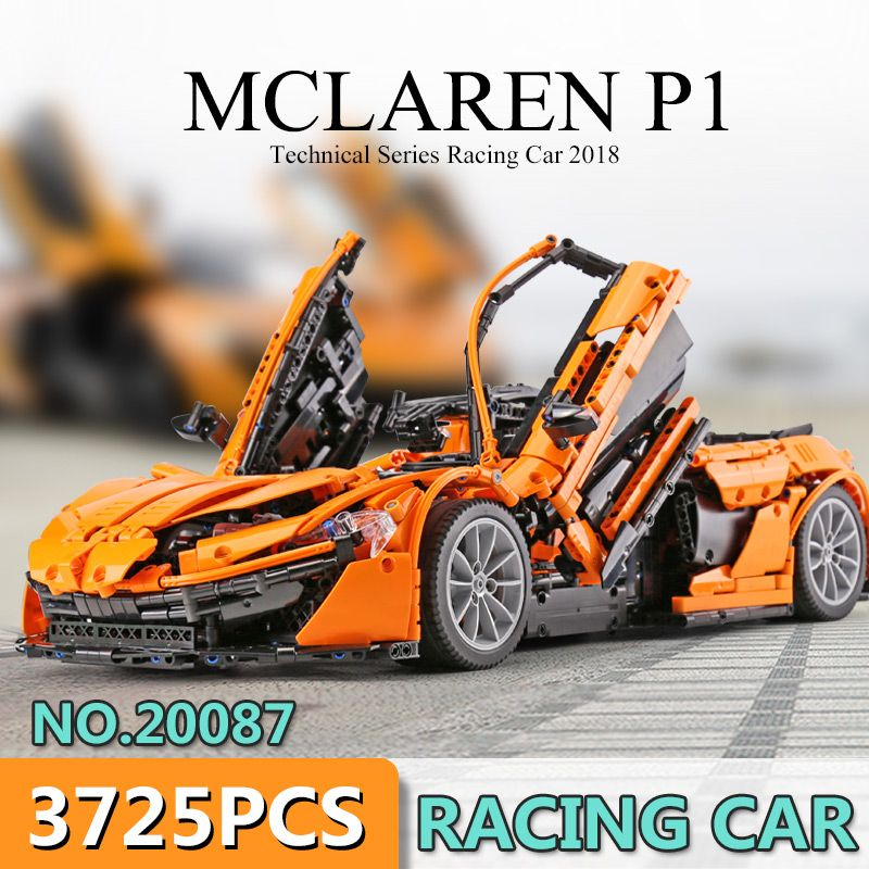 DHL Lepin 20087 Technic Toys The MOC-16915 Orange Super Racing Car Set Building Blocks Bricks Kids Toys Car Model 42083 Gift
