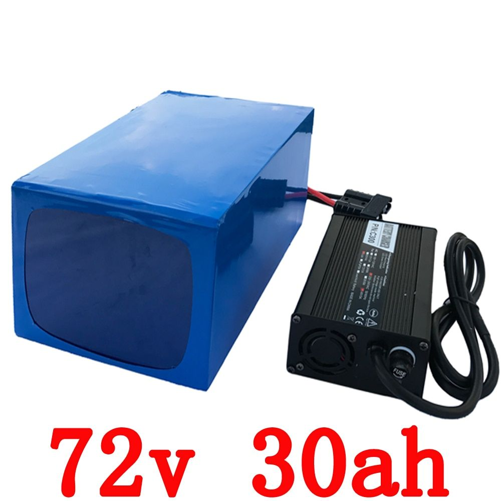 Free customs tax Electric Bike Battery 72v 30Ah 2000W Lithium ion Battery 72v with 84v 5A Charger Free Shipping