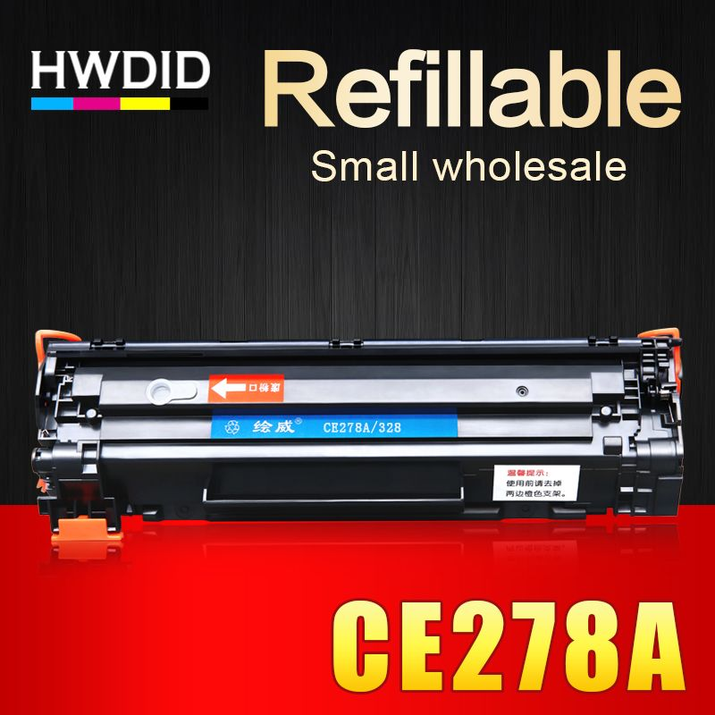 HWDID 1Pcs CE278A 278 278a 78a compatible toner cartridge for HP laserjet pro P1560 1566 1600 1606DN M1536DNF printers