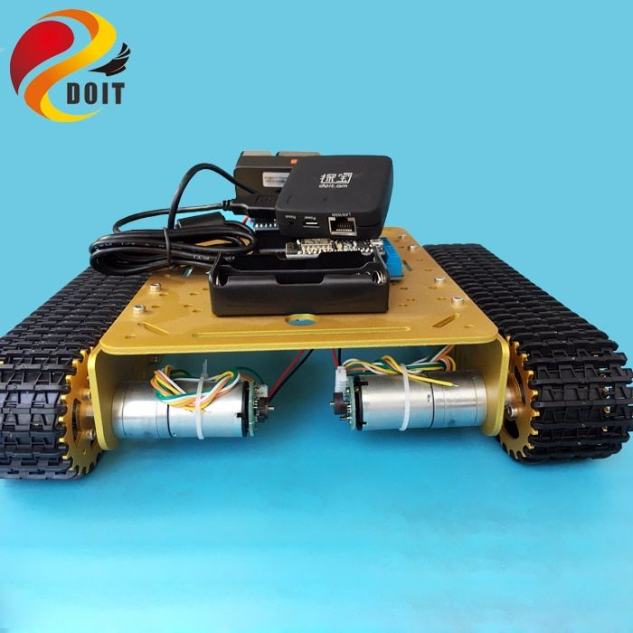 DOIT T200 Remote Control WiFi Video Robot Tank Chassis Mobile Platform for Arduino Robot Project with HD Camera