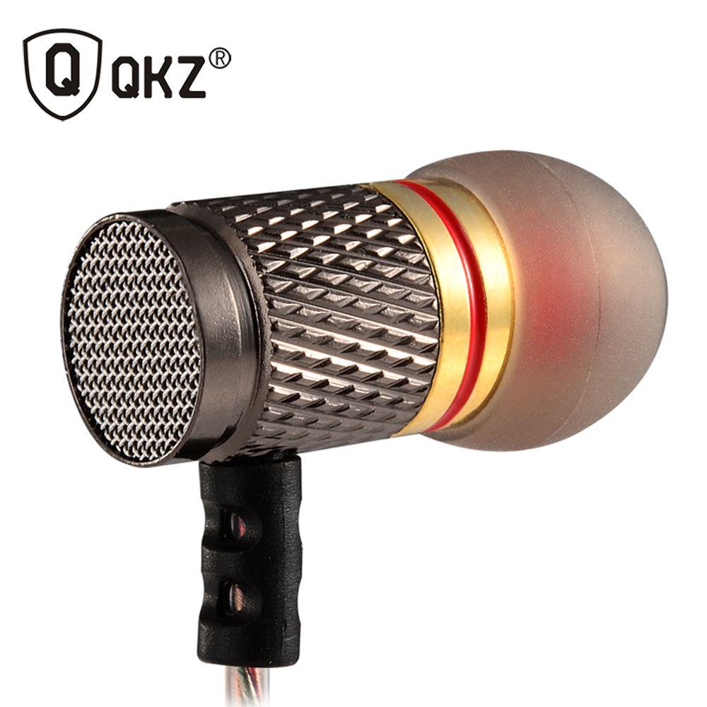 Earphone QKZ DM6 Professional In-ear Earphone Metal Heavy Bass Sound Quality Music fone de ouvido