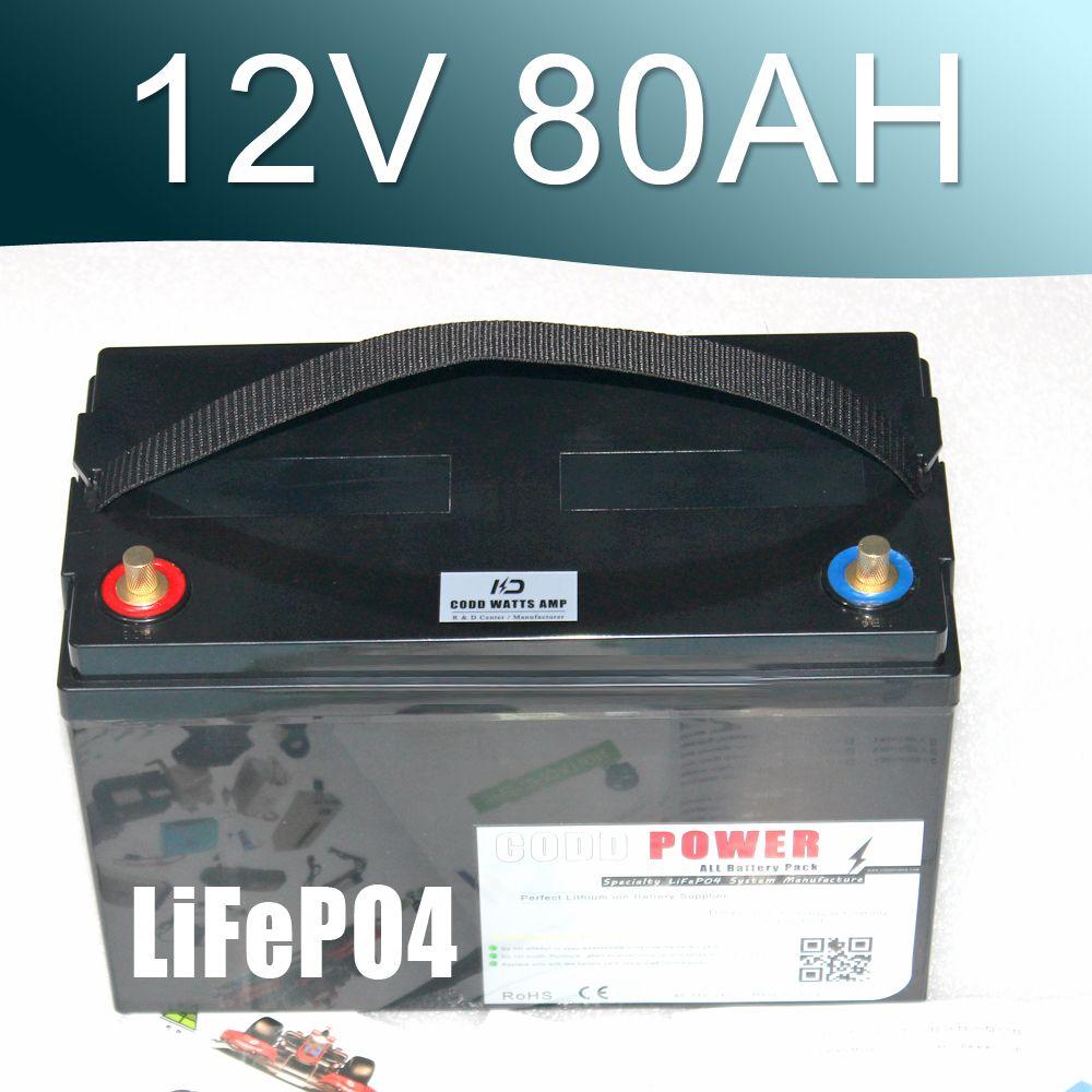 LiFePO4 Battery 100AH Solar energy Golf Car UPS 14.6V 80AH Deep cyclic discharge