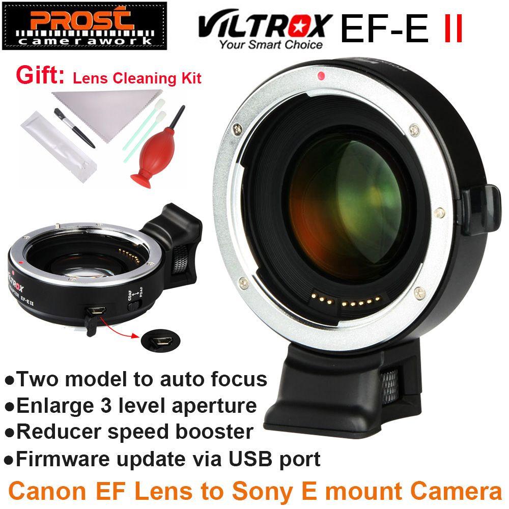Viltrox EF-E II Autofokus Reducer Speed Booster Objektiv Adapter für Canon EF Objektiv Sony NEX E Kamera A9 a7 A7R A7SII A6500 NEX-7