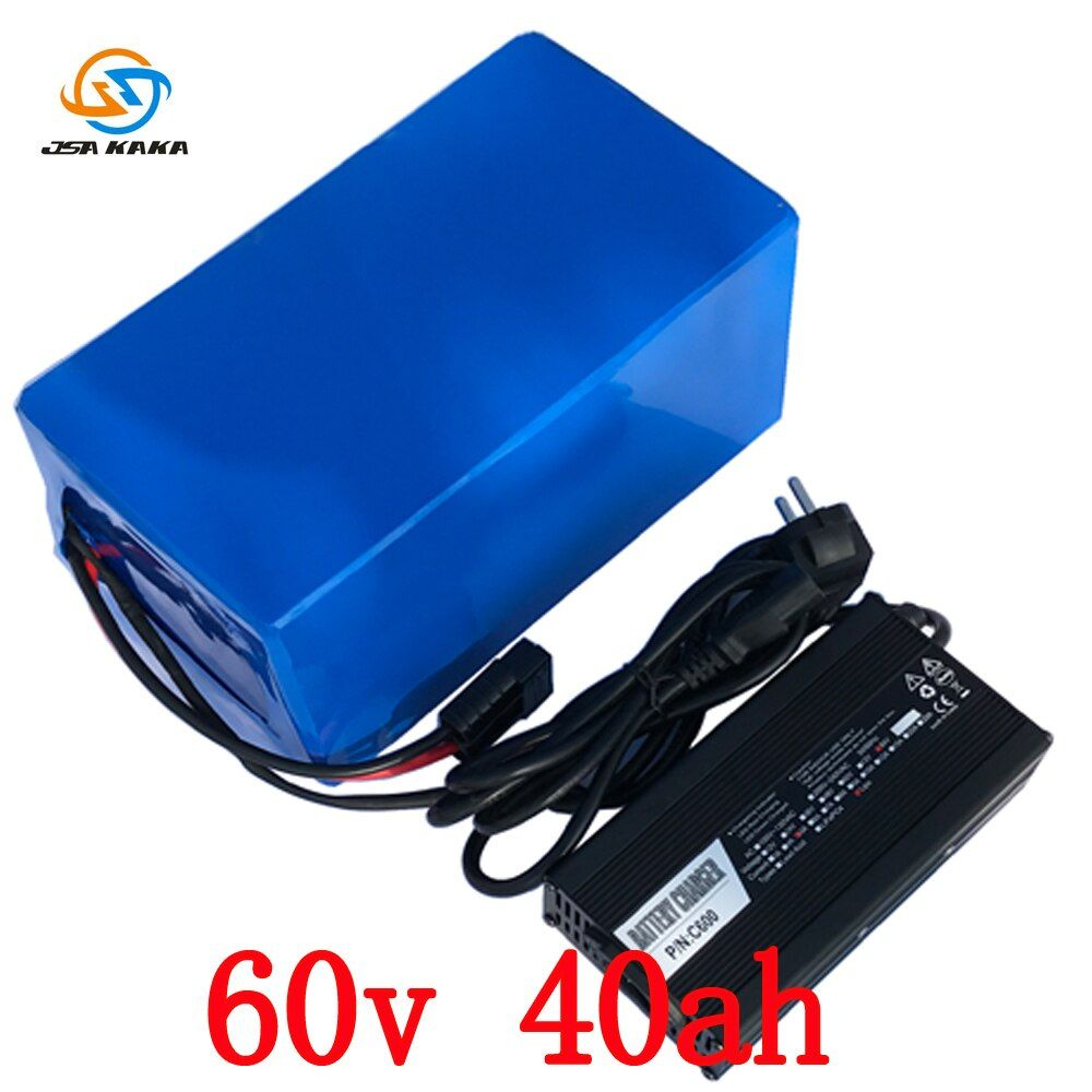 High Power 6000W 3000W E-Bike Battery 60V 40Ah Lithium With 5A Charger Electric Bicycle Battery Free shipping