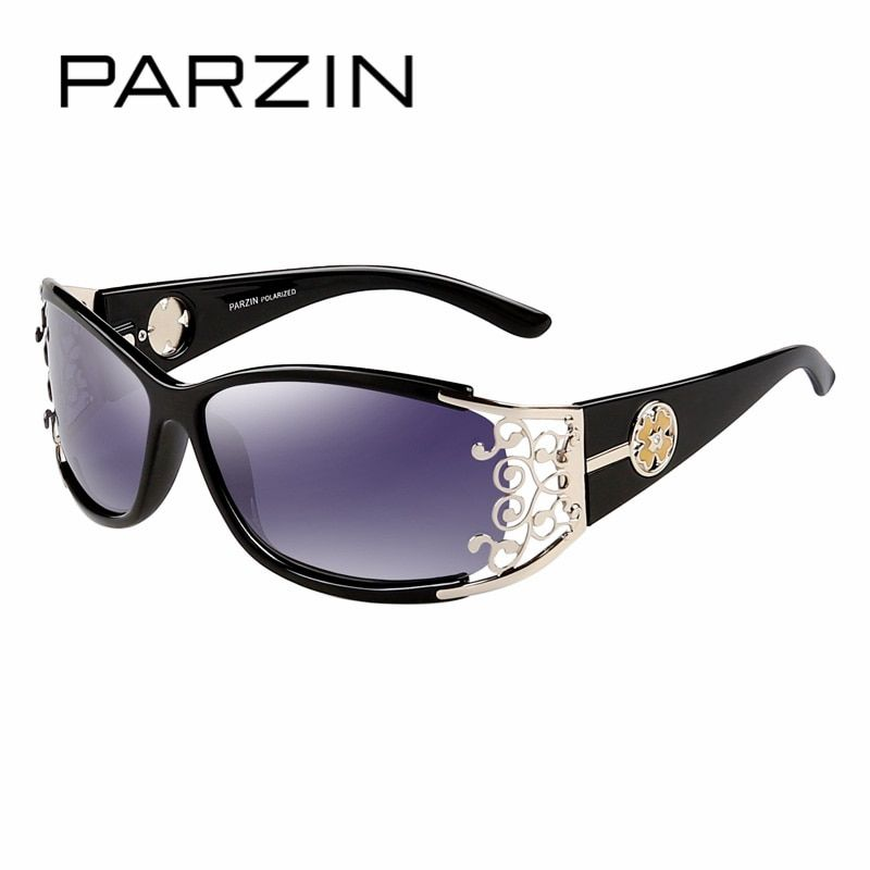 PARZIN 2017 Women Sunglasses For Driving So Real Brand Designer Spectacles Hollow Frame Plastic Glasses With Original Logo Box