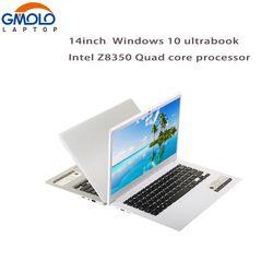 GMOLO 14inch ultrabook laptops Intel X5 Z8350 quad core processor 2G/4G RAM 32G/64GB EMMC HDMI camera Windows 10 notebook