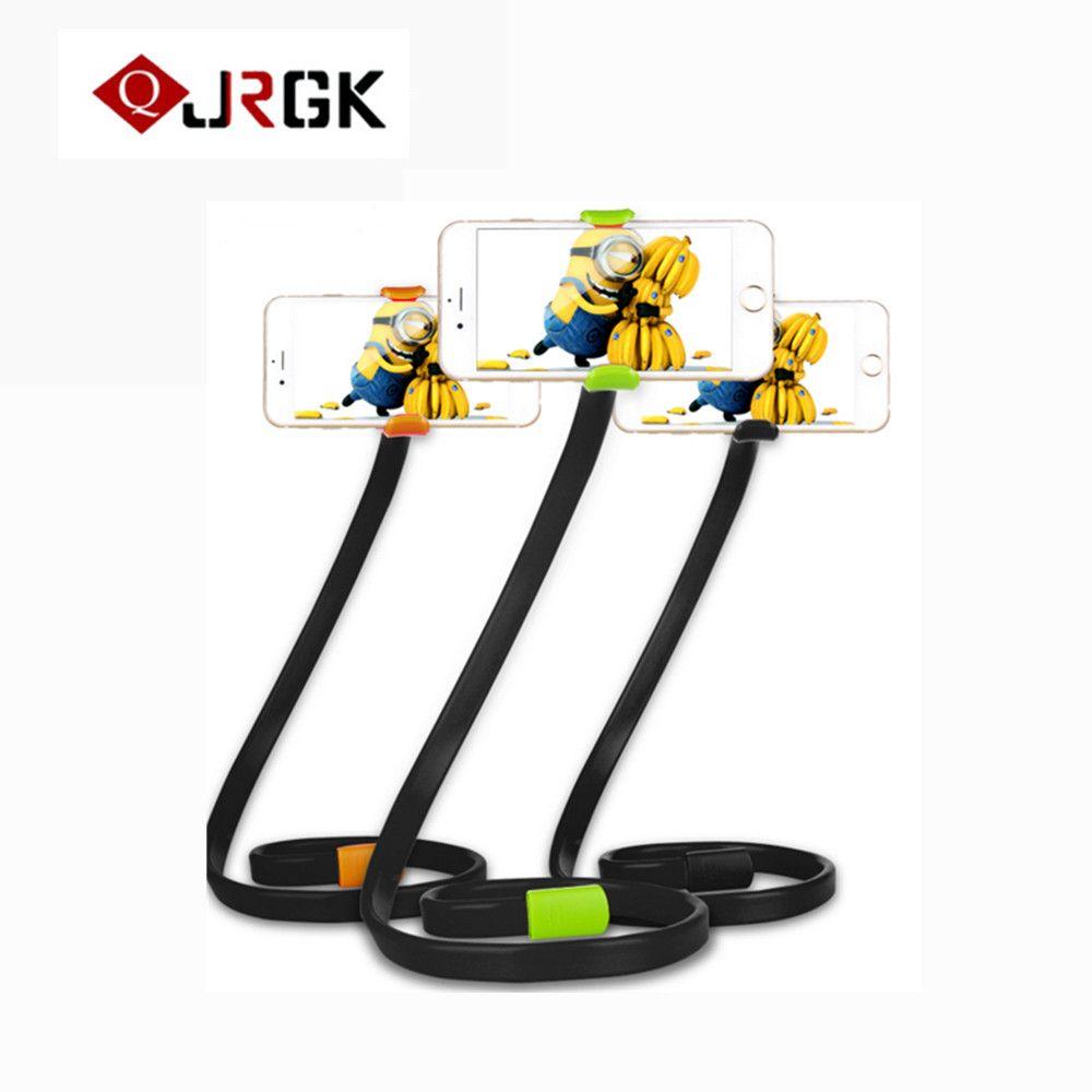 JRGK Universalhandyhalter clip Rotierenden 360 grad Faule Flexible Arm Hängen Stehen für Iphone Samsung HTC