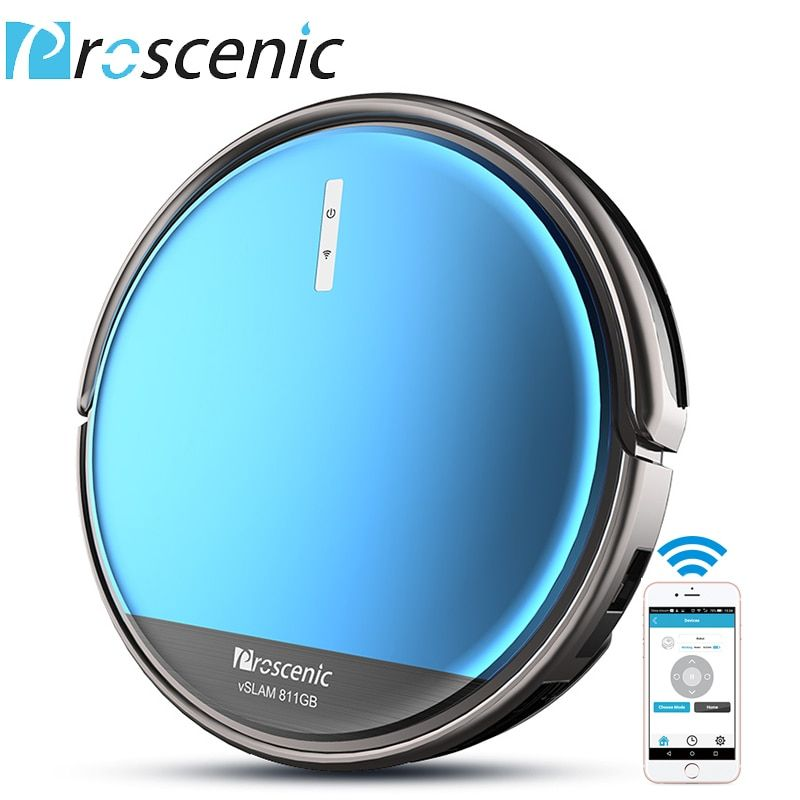 Proscenic 811GB Robotic Vacuum Cleaner with APP Control Boundary Magnetic Marker Electric Control Water Tank Robot Cleaner