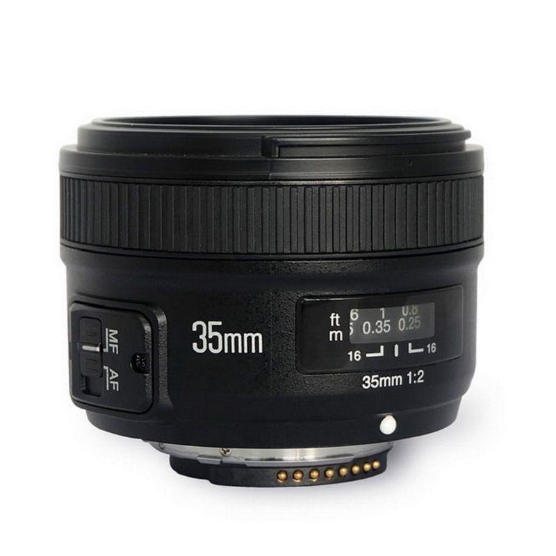 D'origine YONGNUO YN 35mm Caméra Lentille F2 Lens 1:2 AF/MF Large-Angle Fixe/Premier Auto focus Lens Pour Nikon 7000 D5100 D5000