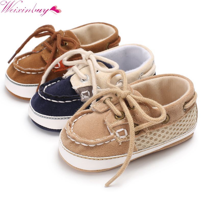 HOT!Spring Baby Boy Casual Shoes Lace-up T-tied solid color casual Toddler Shoes Non-slip Soft Bottom Warm Shoes