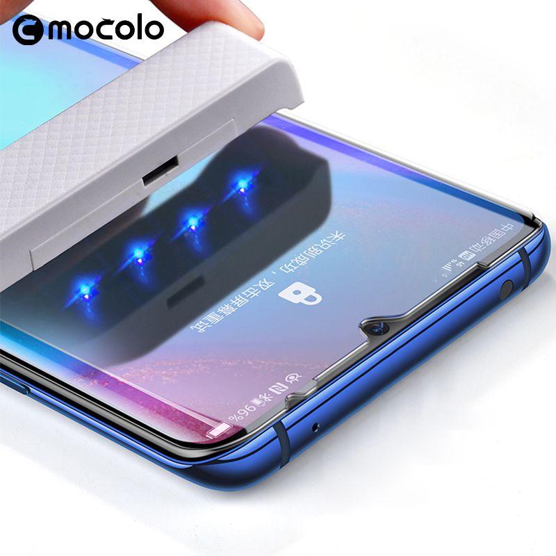 Pour Huawei P30 Pro protecteur d'écran Mocolo entièrement liquide collé 5D incurvé UV verre trempé pour Huawei Mate 20 Pro protecteur d'écran