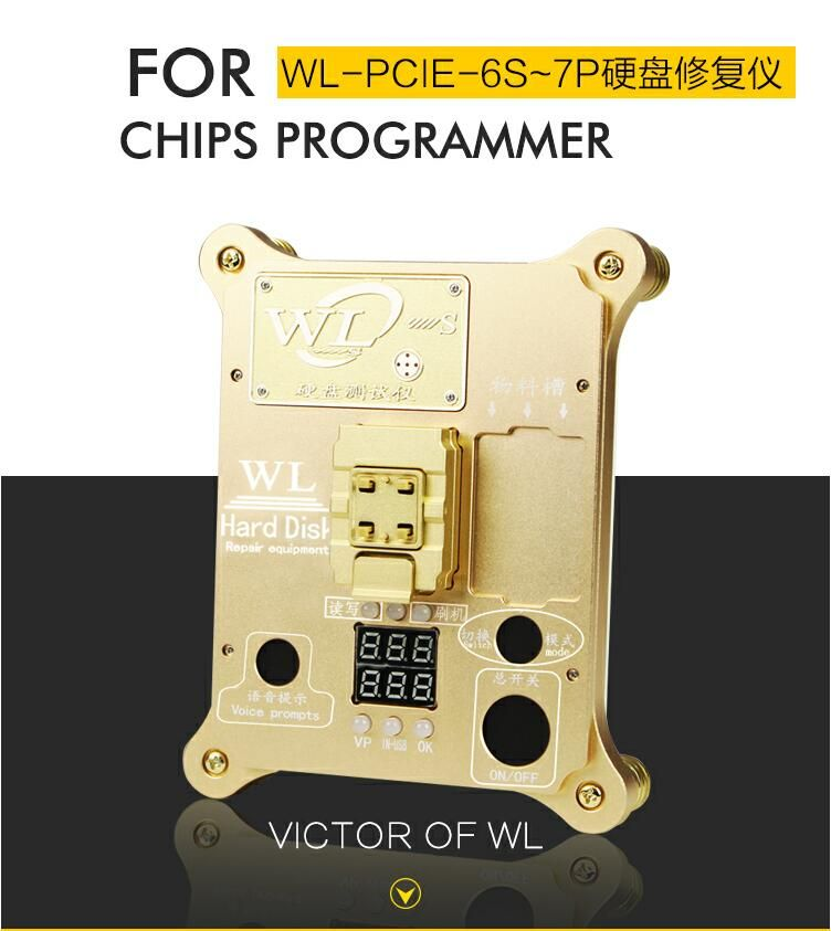 WL PCIE Nand-programmierer PRO icloud Flash-ic für iphone 7 P 7 6SP 6 S Reparatur Mainboard HDD Seriennummer SN werkzeug