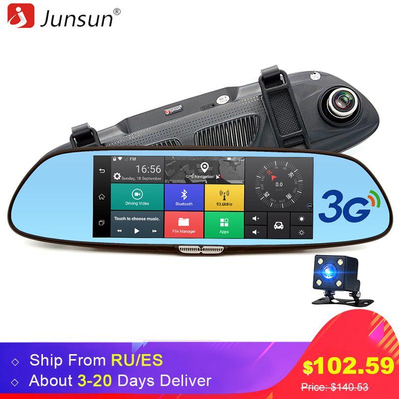 Junsun 7 3G Car Camera DVR GPS Bluetooth Dual Lens Rearview Mirror Video Recorder Full HD 1080P Automobile DVR Mirror Dash cam