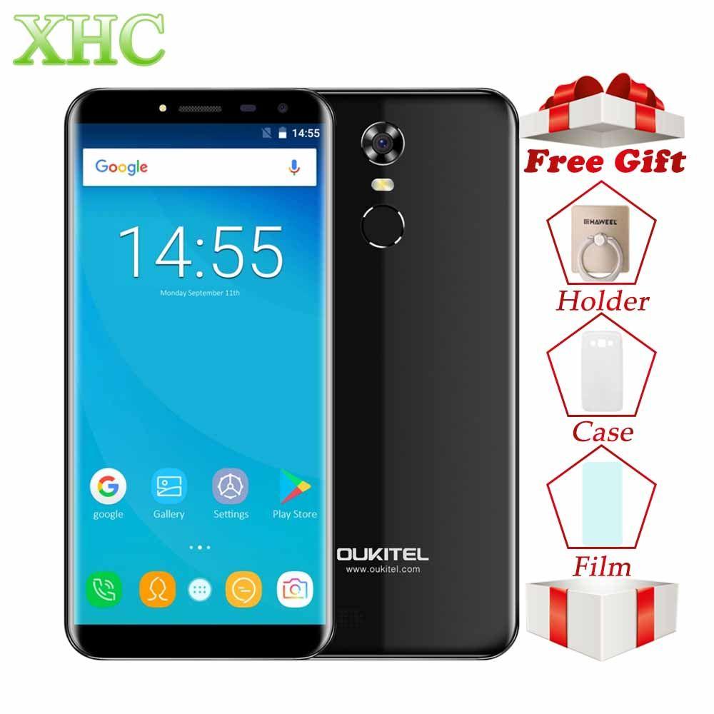 OUKITEL C8 5.5 inch Mobile Phone RAM 2GB ROM 16GB Fingerprint ID Android 7.0 MTK6850A Quad Core WCDMA 3G Dual SIM GPS Smartphone