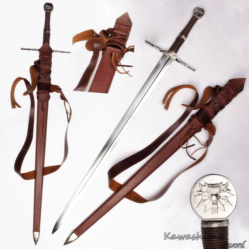 Genuine Handmade Medieval Battle sword 1060 Carbon Steel For The witcher3:Wild Hunt Ciri's Blade Full Tang New Supply