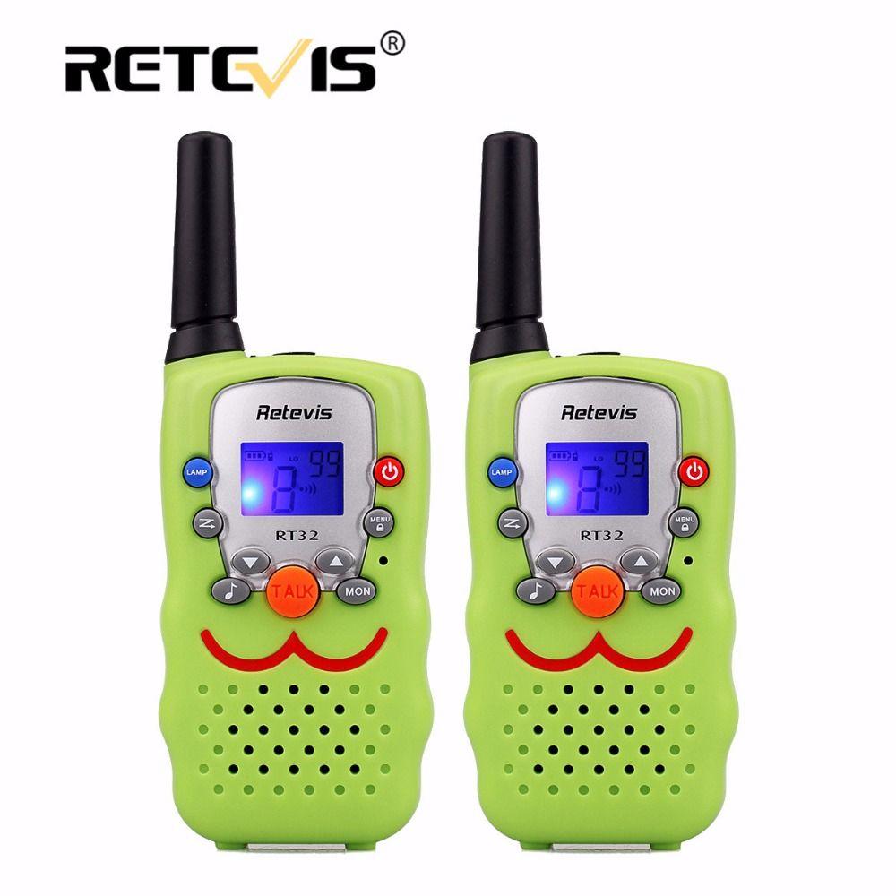 2 pcs Children Walkie Talkie Kids Radio Retevis RT32 0.5W 8/22CH Portable Wireless Radio Gift Two Way Radio Communicator A9113