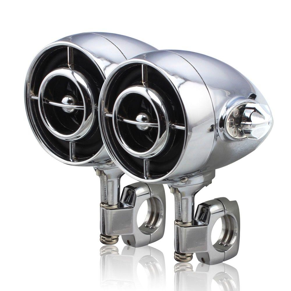 Harley Heavy Motorcycle Waterproof Audio Stereo Amplifier Speakers Hi-Fi Sound MP3/WMA Bluetooth USB/AUX