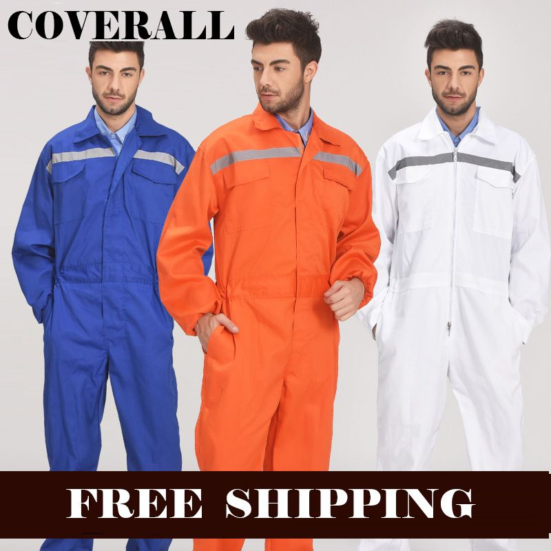 Mens Reflective Workwear Work coverall Repairman Auto Repair Mechanics High Visibility Work Clothing Overalls Free Post