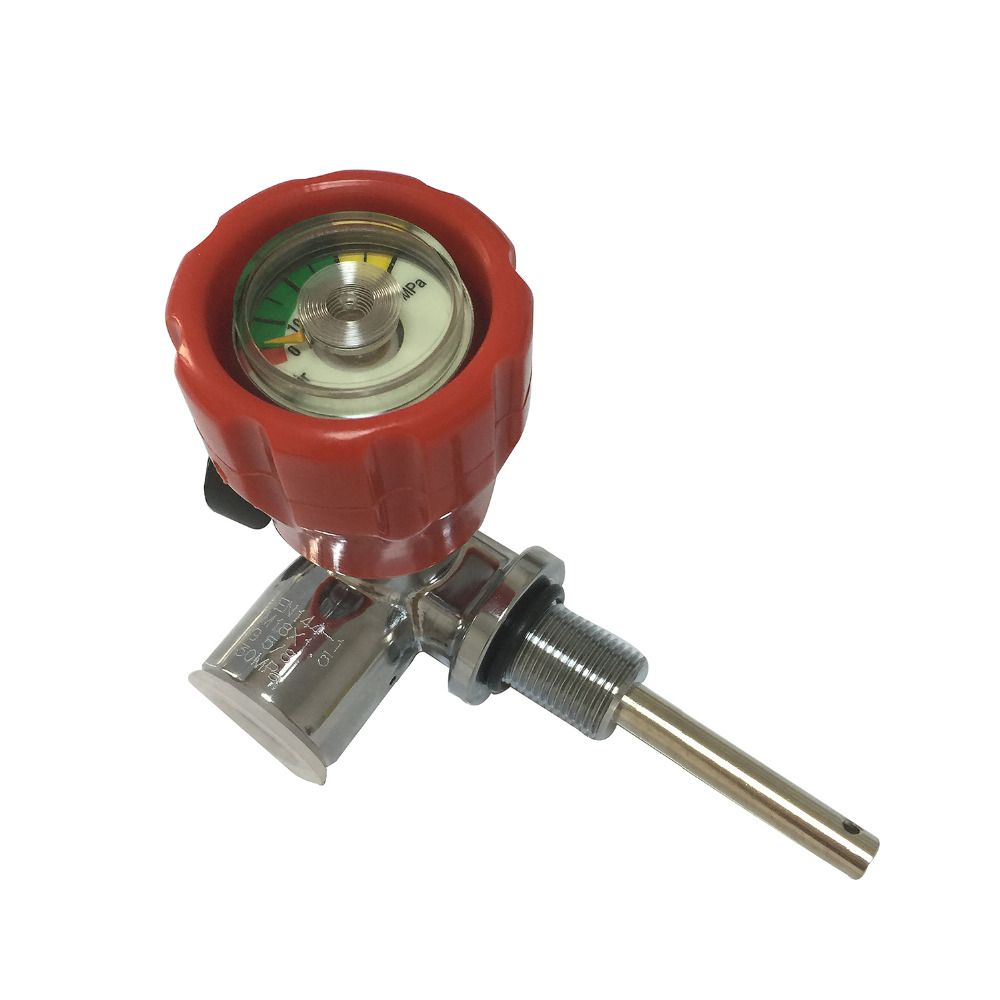 Hot sale! SCUBA Red Valve Thead M18*1.5 for PCP rifle/ Paintball tank/gas cylinder use 4500Psi gas cylinder valve
