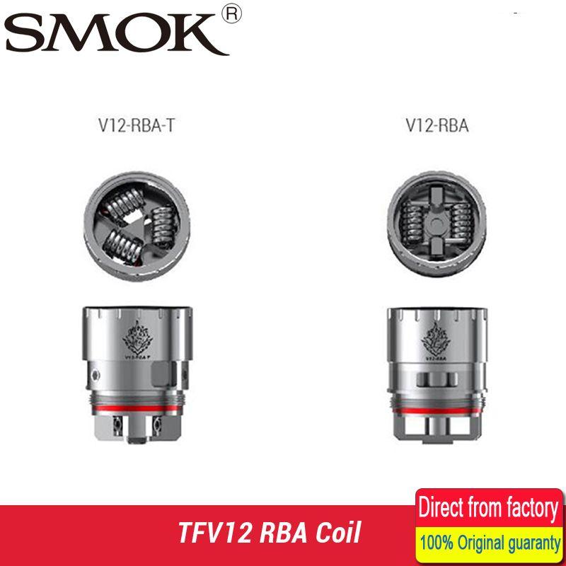 SMOK TFV12 Spule V12 RBA Doppelspule/Deck V12-RBA-T Triple Coil Deck Fit für SMOK TFV12 Tank Zerstäuber