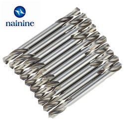 10Pcs 3/3.2/3.5/4/4.5/5mm HSS Double Ended Spiral Drill Bits Twist Drill Tools Set Free Shipping TL20